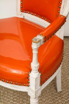 Pair of Orange Directoire Style Chairs - 1311108