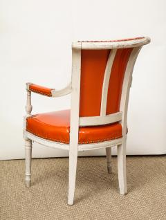Pair of Orange Directoire Style Chairs - 1311110