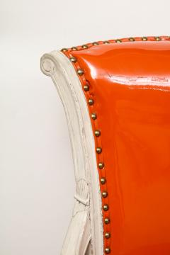 Pair of Orange Directoire Style Chairs - 1311112