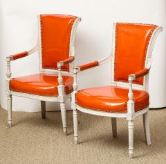 Pair of Orange Directoire Style Chairs - 1311114