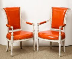 Pair of Orange Directoire Style Chairs - 1311115