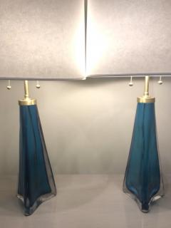 Pair of Orrefors lamps frosted glass by Carl Fagerlund - 1216456