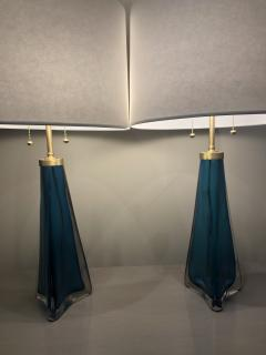 Pair of Orrefors lamps frosted glass by Carl Fagerlund - 1216459
