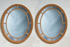Pair of Oval Giltwood Mirrors - 1797711