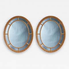 Pair of Oval Giltwood Mirrors - 1800289