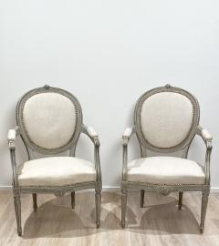 Pair of Painted Armchairs Sweden circa 1900 - 1372337