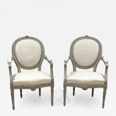 Pair of Painted Armchairs Sweden circa 1900 - 1375137