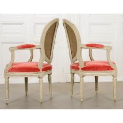Pair of Painted French 19th Century Louis XVI Style Fauteuils - 1794800