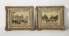 Pair of Paintings Paris Streets - 1785619