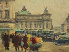 Pair of Paintings Paris Streets - 1785620