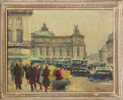 Pair of Paintings Paris Streets - 1785621