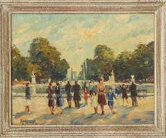 Pair of Paintings Paris Streets - 1785626