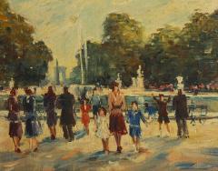 Pair of Paintings Paris Streets - 1785627
