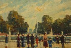 Pair of Paintings Paris Streets - 1785629