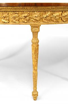 Pair of Pair of English Georgian Satinwood Demilune Console Table - 1427569