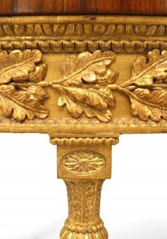 Pair of Pair of English Georgian Satinwood Demilune Console Table - 1427570