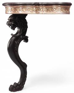Pair of Pair of English Regency Lion Leg Console Table - 1427497