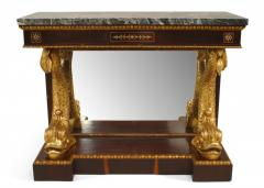 Pair of Pair of English Regency Rosewood Gilt Dolphin Console Table - 1427457