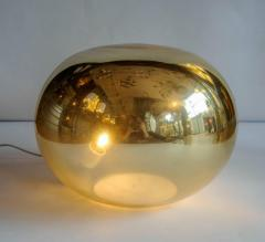 Pair of Pebble Shaped Golden Glass Lamps - 714691