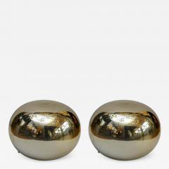 Pair of Pebble Shaped Golden Glass Lamps - 714749