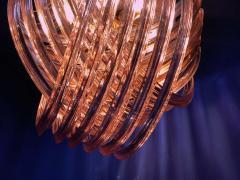 Pair of Pink Murano Curvati Ceiling Light or Flushmount 1990 - 1910411