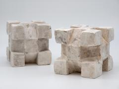 Pair of Plaster Geometric Models - 1670104