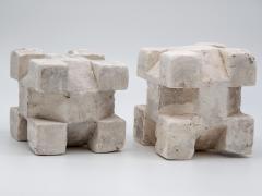 Pair of Plaster Geometric Models - 1670113