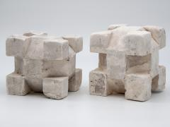 Pair of Plaster Geometric Models - 1670115