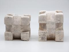 Pair of Plaster Geometric Models - 1670117