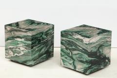 Pair of Polar Verde Cubes Side Tables - 1795285