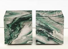 Pair of Polar Verde Cubes Side Tables - 1795286