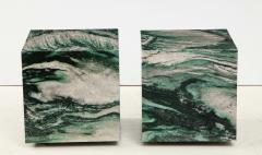 Pair of Polar Verde Cubes Side Tables - 1795291