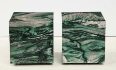 Pair of Polar Verde Cubes Side Tables - 1795350