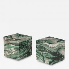 Pair of Polar Verde Cubes Side Tables - 1797822