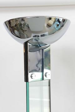 Pair of Polished Chrome and Glass Floor Lamps manner of Fontana Arte - 41204