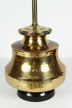 Pair Of Polished Moroccan Brass Table Lamps   338884