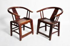 Pair of Qing Dynasty Horseshoe Back Chairs - 1140438