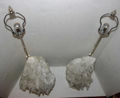 Pair of Quartz Crystal Lamps - 658883