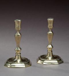 Pair of Queen Anne Octagonal Base Brass Candlesticks - 69200