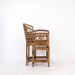 Pair of Rattan Chinoiserie Armchairs - 462178