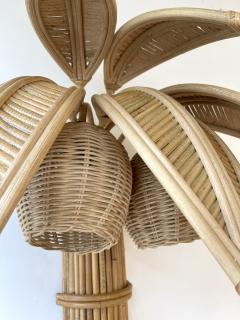 Pair of Rattan Palm Tree Sconces France 1980s - 2001440