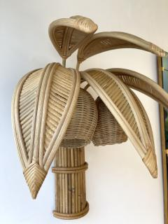 Pair of Rattan Palm Tree Sconces France 1980s - 2001447
