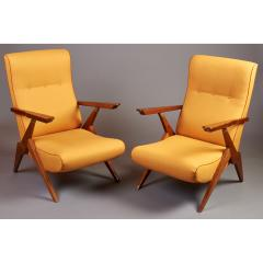 Pair of Reclining Armchairs Italy 1950s - 307450