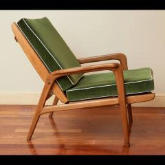 Pair of Reclining Wood Armchairs Italy 1950s - 2054541