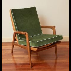Pair of Reclining Wood Armchairs Italy 1950s - 2054543