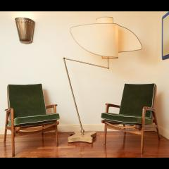 Pair of Reclining Wood Armchairs Italy 1950s - 2054544