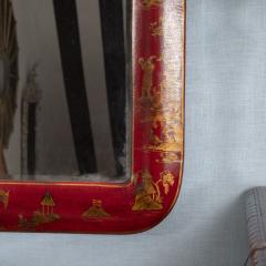 Pair of Red Lacquered Chinoiserie Mirrors - 1100012