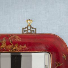 Pair of Red Lacquered Chinoiserie Mirrors - 1100013