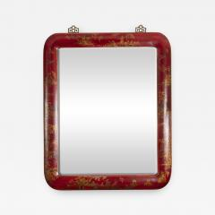 Pair of Red Lacquered Chinoiserie Mirrors - 1100921