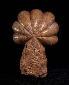 Pair of Red Marble Sculptures of Shells as Holy Water Font or Supports 19th - 1882360